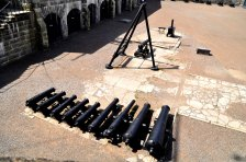 Centuries-old artillery line the courtyard of the Citadel while interpreters in historic militar garb add to the atmosphere.